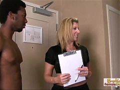 Sarah the apartment manager gets destroyed by two black stud