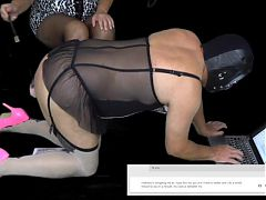 Mistress Makes Her Femdom Sissy Slave Tribute Maria Clayton