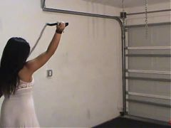 Bullwhipping Her Admirer - High Heels, Whip and Paddle