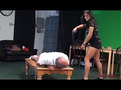 Mikaela Breaks and Enslaves Mr Shefights- Ferocious Spanking
