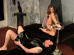 Large Male Slave is dominated.