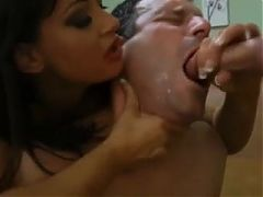 Wife forced him to suck cock and eat cum
