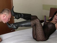 lick boots and slap