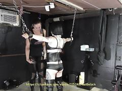 Ms Lady Sensually Flogs a Young Sub Preview