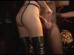 Cock and ball torment by girls