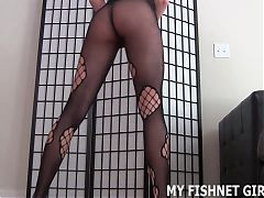 These tight fishnets make me feel like a real slut