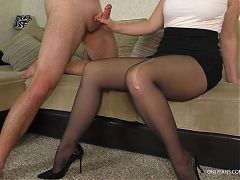 Cum in Stepsister's Panties - Teen Handjob and Thigh Job