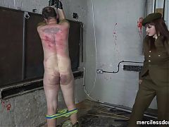Hard Military Whipping - Strict Officer Vivienne
