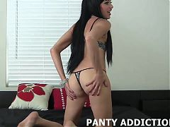 Slide these panties down my round ass JOI