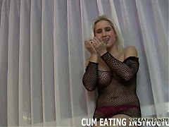 You are a total cum eating pervert CEI