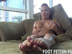My hot feet look amazing in fishnets JOI