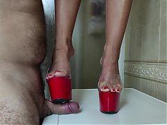cock crush high heels