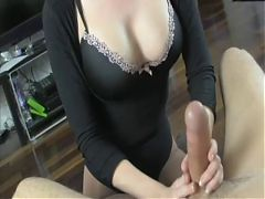 If you cum I'll cut your balls (Handjob & Castration)