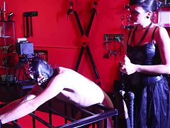 nVery hard sadistic whipping by cruel brunette mistress