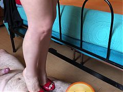 Trampling and Cumming under High Heels (Female Domination)