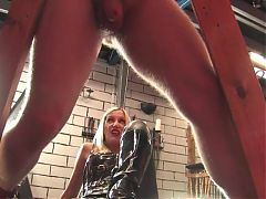 Mistress Nikki and screaming man