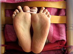 My feet whipped hard by girlfriend - bastinado  falaka