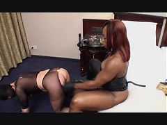 Best Strapon - black mistress fuck Teil 2