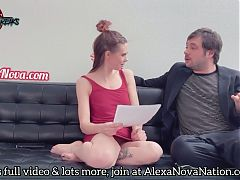 Alexa dominates his wallet and gets eaten out!