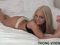 My new thong barely covers anything at all JOI