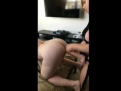 Big tittied blonde abusing a slut