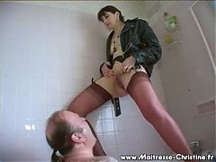 French dominatrix pees