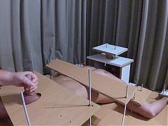 Amateur Femdom CBT and handjob with post orgasm torture