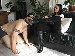 Mistress and boot cleaner