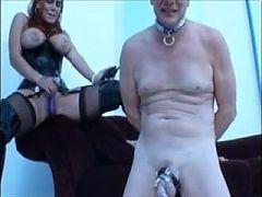 Chastity shock while she masturbates