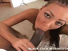 Two huge black cocks are going to tear my holes up